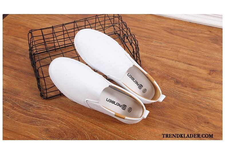 Mockasiner Herr Sommar Casual Loafer Skor Loafers Trend Vit