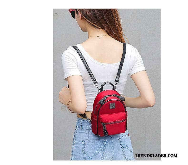 Ryggsäck Dam Väska Nylon Oxford Trend Mini Mode Svart