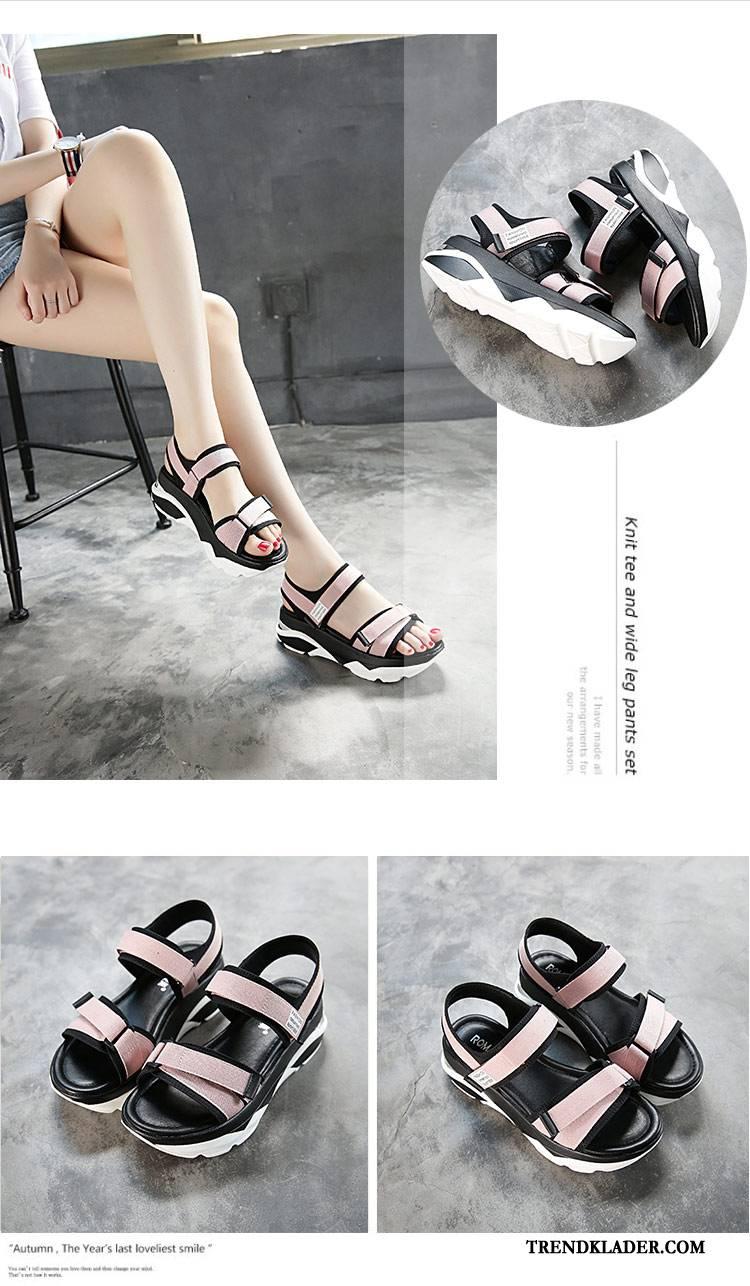Sandaler Dam Student Skor Sommar Platåskor Mode