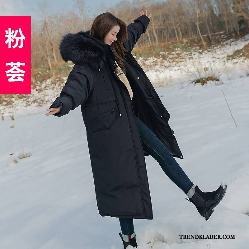 lång svart jacka dam