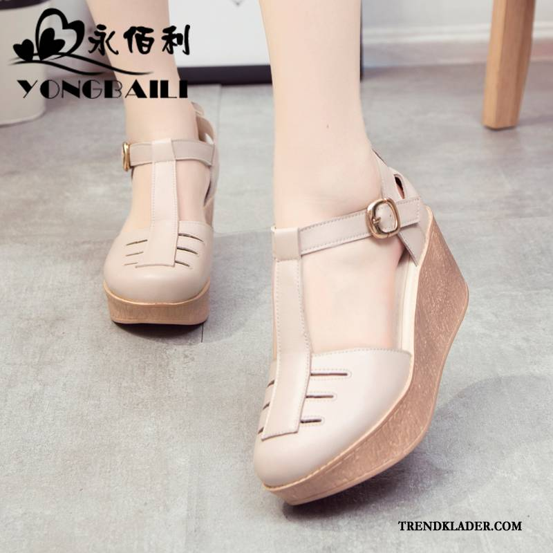bekväma högklackade skor