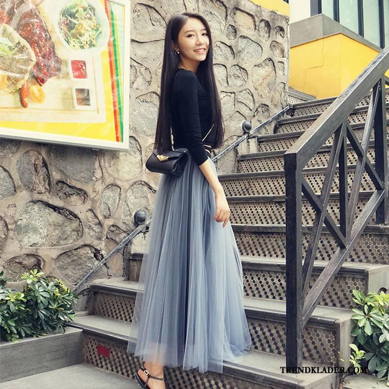 lång grå kjol