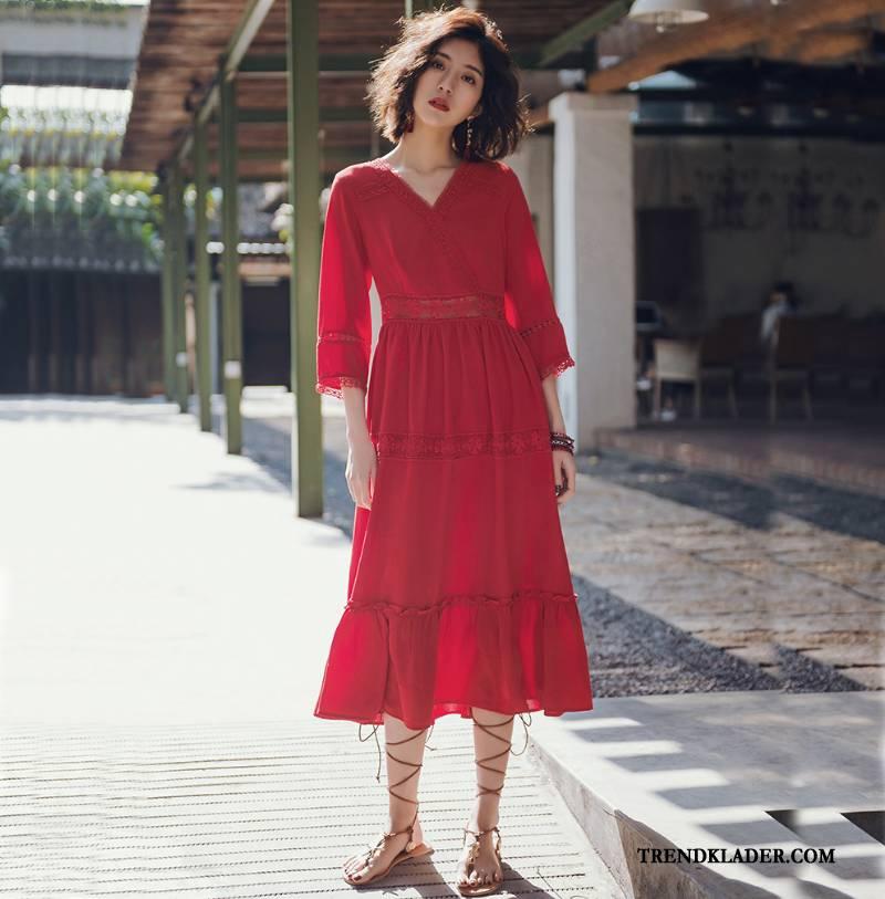 röd klänning rea