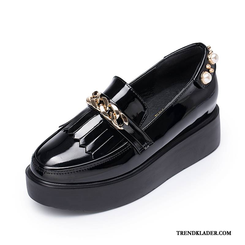 Mockasiner Dam Skor Med Tjocka Sulor British Loafers
