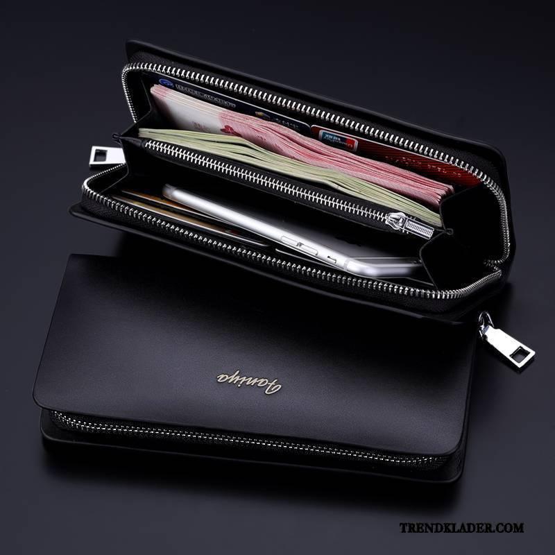 herr plånbok med dragkedja