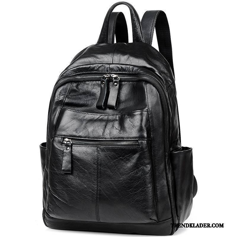 svart läder ryggsäck