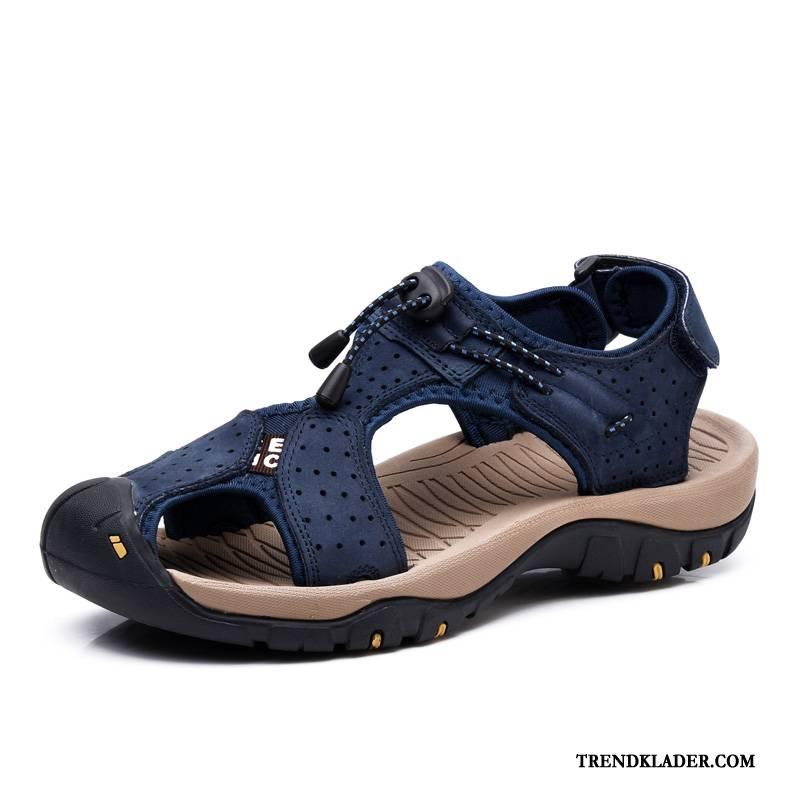 Sandaler Sandaletter Herr Mjuka Läder Skor Casual